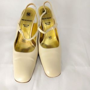 Bruno Magli Cream Leather Sz. 7.5